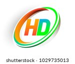 initial letter hd logotype...