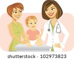 cartoon of a mother and baby... | Shutterstock .eps vector #102973823