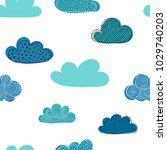 beautiful seamless pattern of... | Shutterstock .eps vector #1029740203