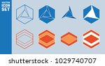 set of hexagon icons. abstract... | Shutterstock .eps vector #1029740707