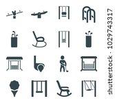 swing icons. set of 16 editable ... | Shutterstock .eps vector #1029743317