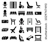 seat icons. set of 25 editable... | Shutterstock .eps vector #1029747493