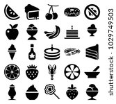 delicious icons. set of 25... | Shutterstock .eps vector #1029749503