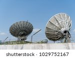 communication satellite dish | Shutterstock . vector #1029752167
