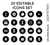 clock icons. set of 20 editable ... | Shutterstock .eps vector #1029757057