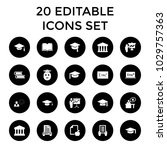 university icons. set of 20... | Shutterstock .eps vector #1029757363