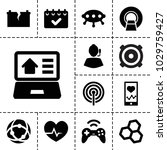 technology icons. set of 13... | Shutterstock .eps vector #1029759427