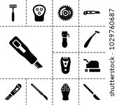 cutter icons. set of 13... | Shutterstock .eps vector #1029760687