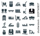freight icons. set of 25... | Shutterstock .eps vector #1029760837