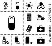 aspirin icons. set of 13... | Shutterstock .eps vector #1029760843