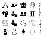 profile icons. set of 16... | Shutterstock .eps vector #1029761893