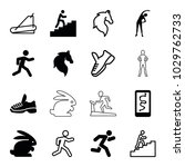 running icons. set of 16... | Shutterstock .eps vector #1029762733