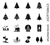 solid vector icon set  ... | Shutterstock .eps vector #1029768613