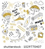 various object in doodle style   Shutterstock .eps vector #1029770407