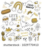 various object in doodle style   Shutterstock .eps vector #1029770413