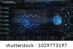 hi tech user interface head up... | Shutterstock . vector #1029773197