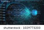 hi tech user interface head up... | Shutterstock . vector #1029773203