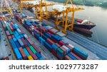 logistics and transportation of ... | Shutterstock . vector #1029773287