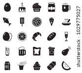 solid black vector icon set  ... | Shutterstock .eps vector #1029775027