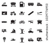 solid black vector icon set  ... | Shutterstock .eps vector #1029776953