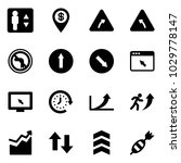 solid vector icon set  ... | Shutterstock .eps vector #1029778147