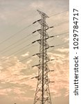 hight voltage electric towers... | Shutterstock . vector #1029784717
