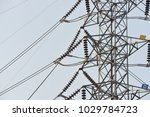 hight voltage electric towers... | Shutterstock . vector #1029784723