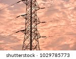hight voltage electric towers... | Shutterstock . vector #1029785773