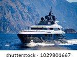 super yacht underway near... | Shutterstock . vector #1029801667