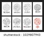 set of doodles vector.... | Shutterstock .eps vector #1029807943