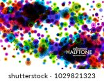colorful halftone dotted...   Shutterstock .eps vector #1029821323