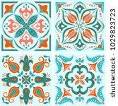 vintage tile design  vector... | Shutterstock .eps vector #1029823723