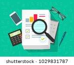 analytics data research vector  ... | Shutterstock .eps vector #1029831787