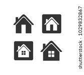 home icon vector template | Shutterstock .eps vector #1029832867