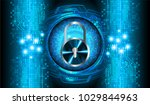 safety concept  closed padlock... | Shutterstock .eps vector #1029844963