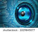 binary circuit board future... | Shutterstock .eps vector #1029845077
