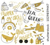 various object in doodle style   Shutterstock .eps vector #1029859447