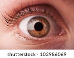 closeup of woman eye background - stock photo