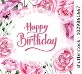 wildflower pink tea rosa flower ... | Shutterstock . vector #1029861667