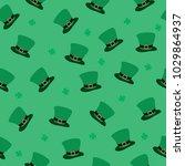 patrick s day  seamless pattern ... | Shutterstock .eps vector #1029864937