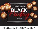 black friday sale banner...   Shutterstock .eps vector #1029865027