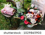 many gifted wedding flowers | Shutterstock . vector #1029865903