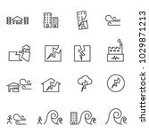 earthquake icon . line symbol... | Shutterstock .eps vector #1029871213