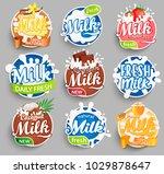 set of logos  labels of fresh... | Shutterstock .eps vector #1029878647