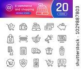 online shopping and e commerce... | Shutterstock .eps vector #1029887803