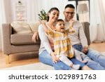 family  parenthood and people... | Shutterstock . vector #1029891763