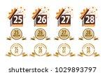 ribbon anniversary template set | Shutterstock .eps vector #1029893797