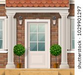the entrance to the house ... | Shutterstock .eps vector #1029901297