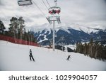 winter cable car in the... | Shutterstock . vector #1029904057