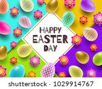 easter vector illustration with ... | Shutterstock .eps vector #1029914767